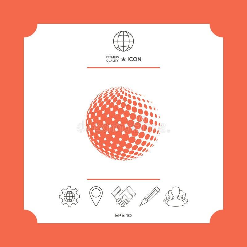 Jordsymbol - logodesign royaltyfri illustrationer