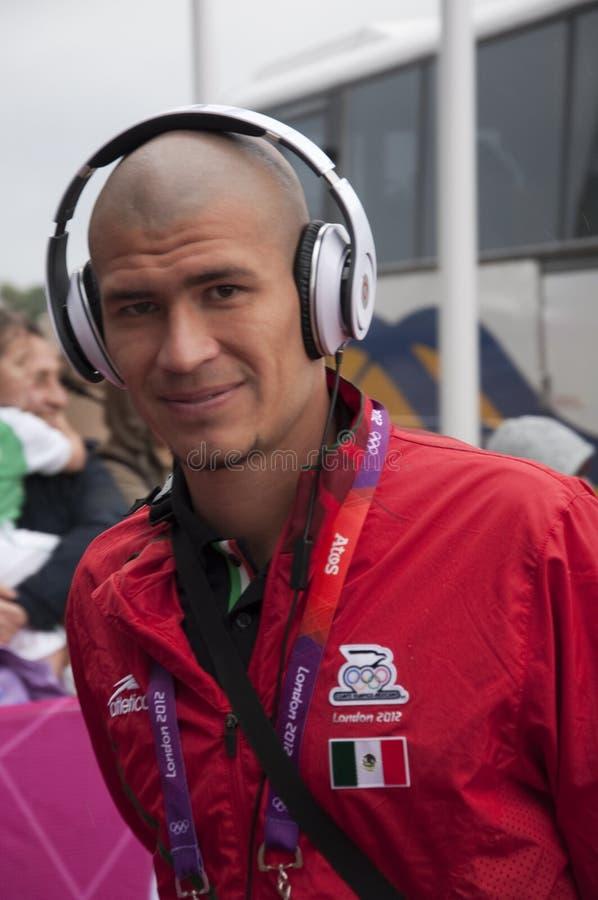 Jorge ・恩利克兹・墨西哥奥林匹克橄榄球队 编辑类库存照片