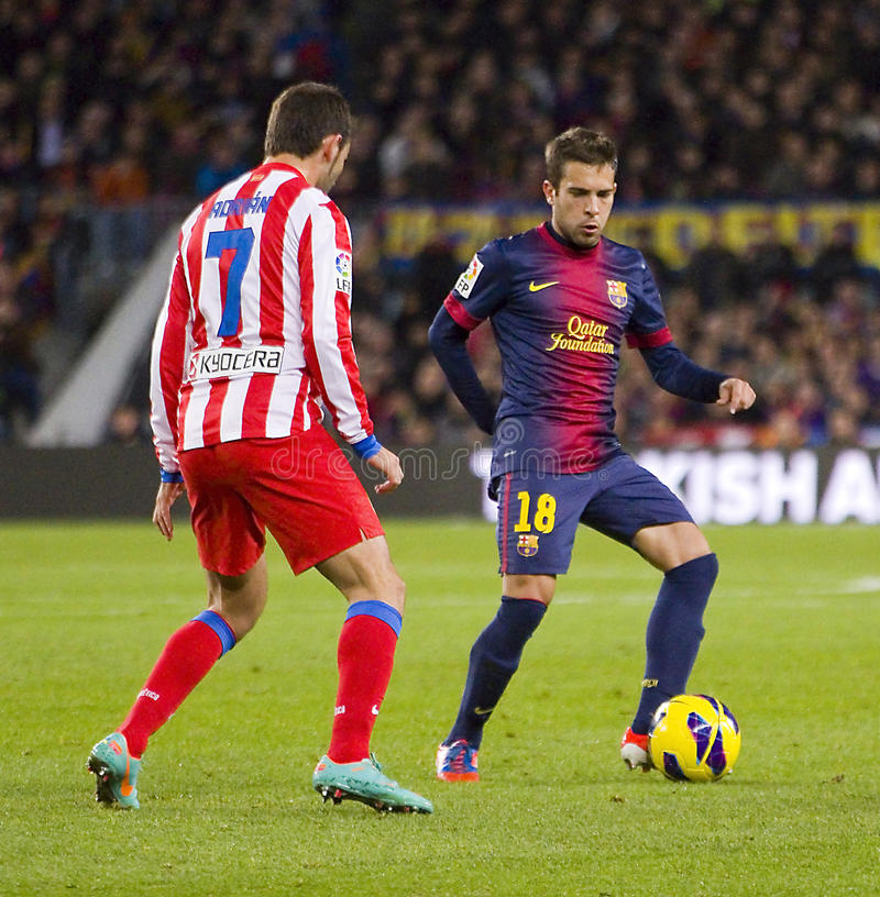 Jorge Alba del FC Barcelona fotografía de archivo libre de regalías