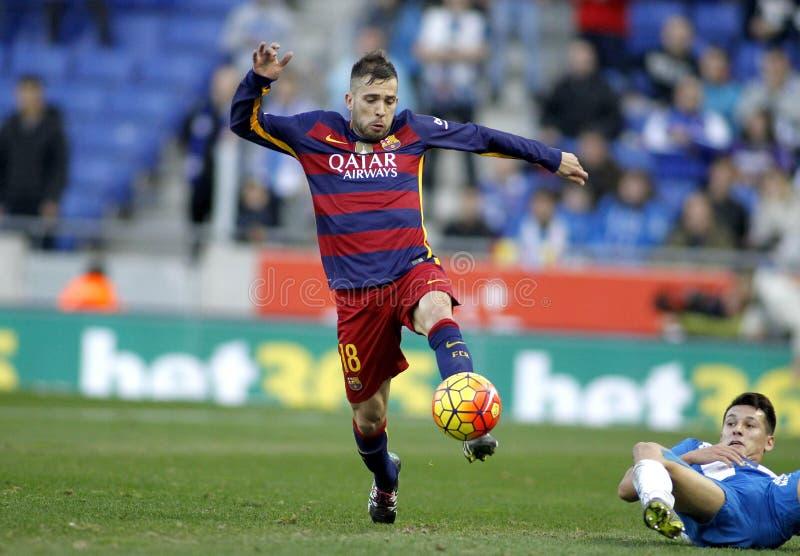 Jorge Alba del FC Barcelona imagen de archivo