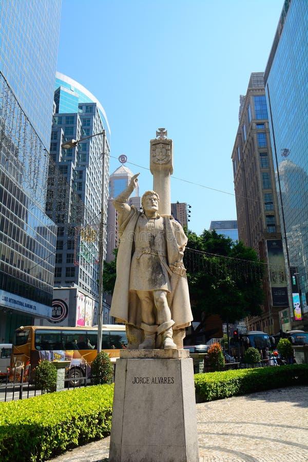 Jorge Alvares, fundador de Macau foto de stock