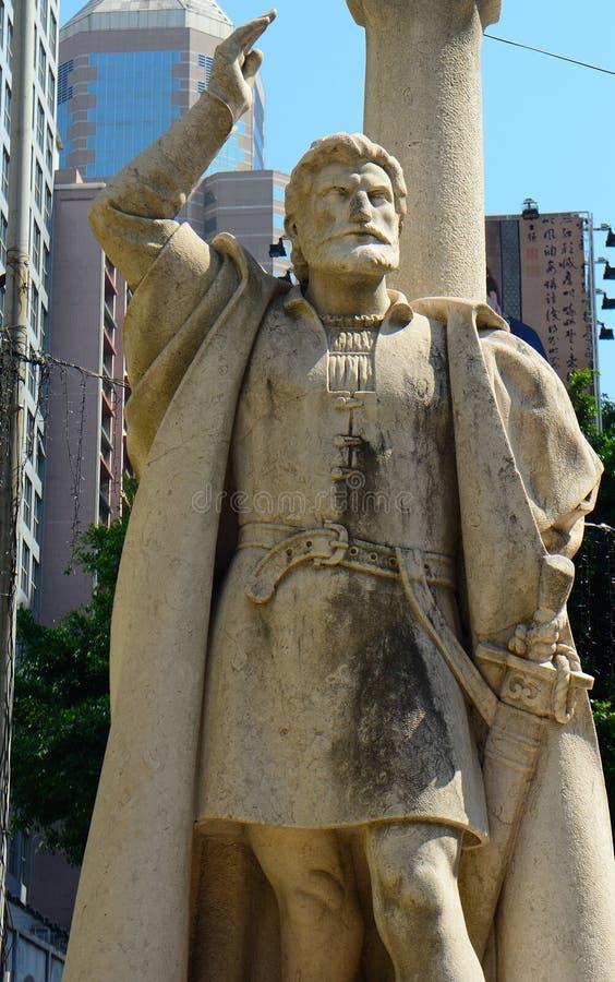 Jorge Alvares, fundador de Macau fotografia de stock
