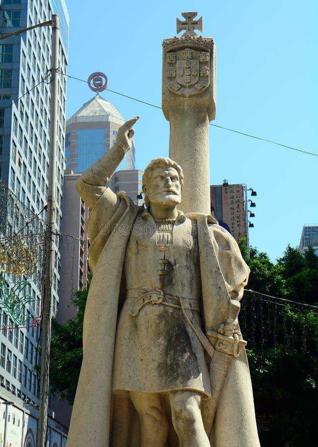Jorge Alvares, fundador de Macau fotografia de stock royalty free