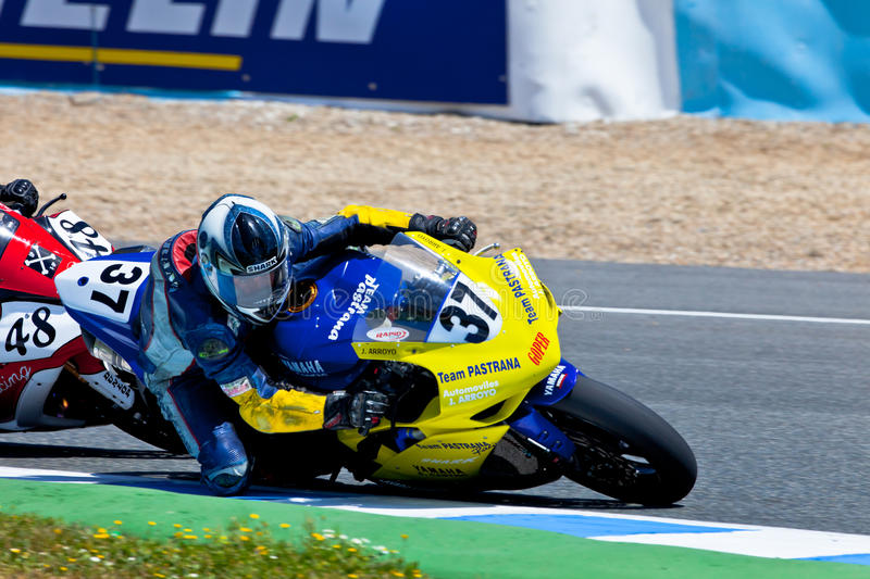 Jorge Arroyo pilot of Stock Extreme of the CEV Championship royalty free stock images