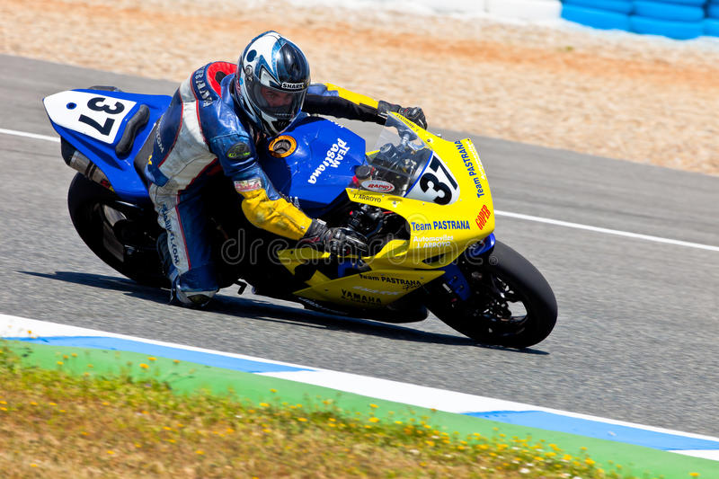 Jorge Arroyo pilot of Stock Extreme of the CEV Championship stock photo