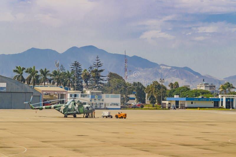 Jorge Chavez Airport, Lima, Perú foto de archivo libre de regalías