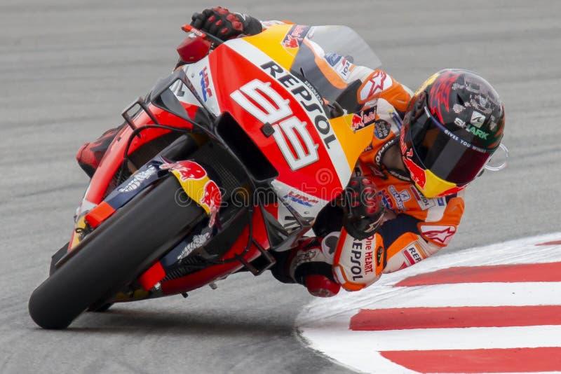 jorge lorenzo Grand Prix av Catalonia MotoGP på strömkretsen av Catalonia arkivbilder