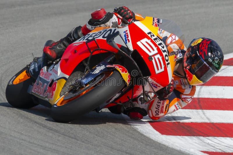 jorge lorenzo Grand Prix av Catalonia MotoGP på strömkretsen av Catalonia arkivfoton