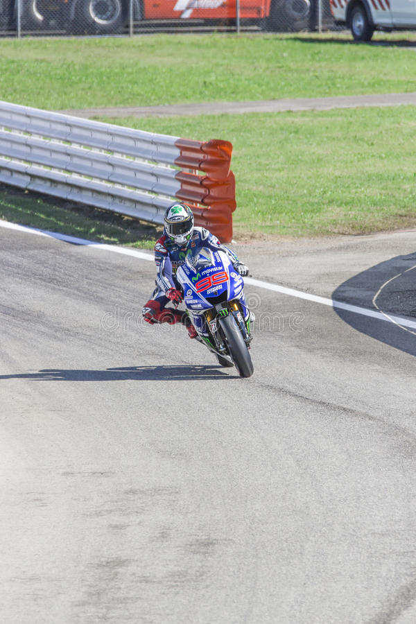 Jorge Lorenzo of Yamaha Factory team racing royalty free stock image