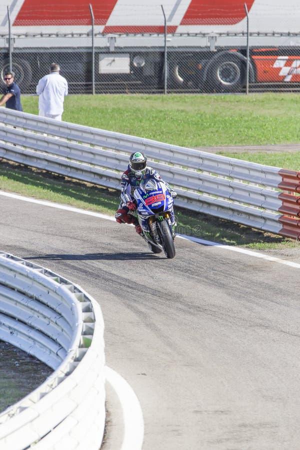 Jorge Lorenzo of Yamaha Factory team racing stock photos