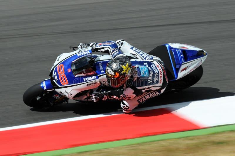 Jorge Lorenzo YAMAHA MotoGP 2012 royaltyfri foto