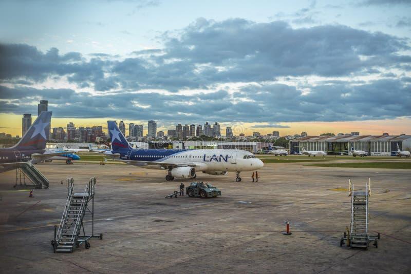 Jorge Newbery Airport, Argentina foto de stock royalty free