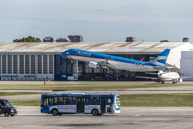 Jorge Newbery Airport, Argentinië royalty-vrije stock fotografie