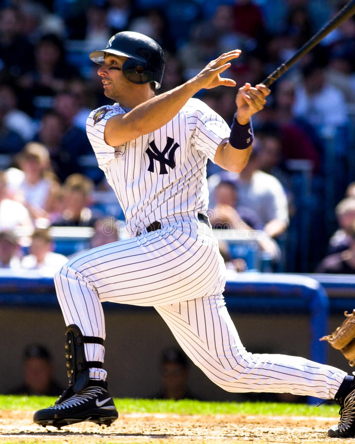 Jorge Posada New York Yankees arkivbild