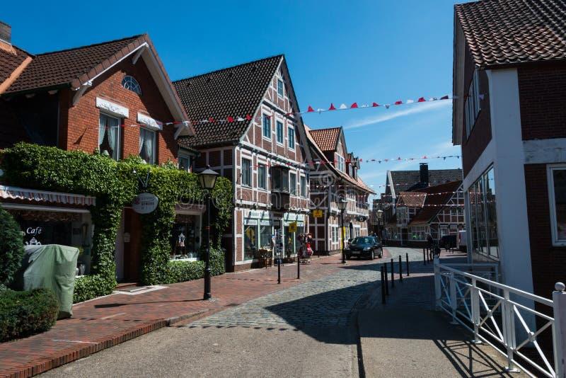 Jork im Alten Land germany. Timbered house in Jork im Alten Land germany royalty free stock image
