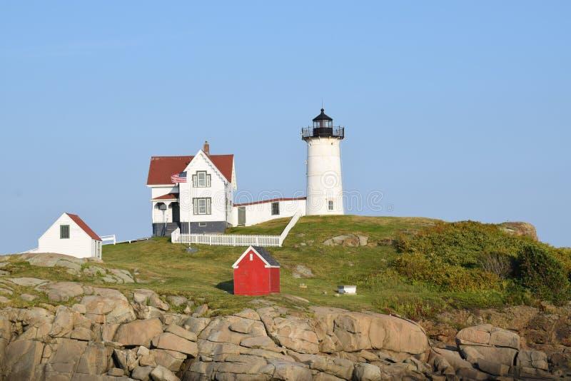 Jork latarnia morska w Jork, Maine, usa obraz stock