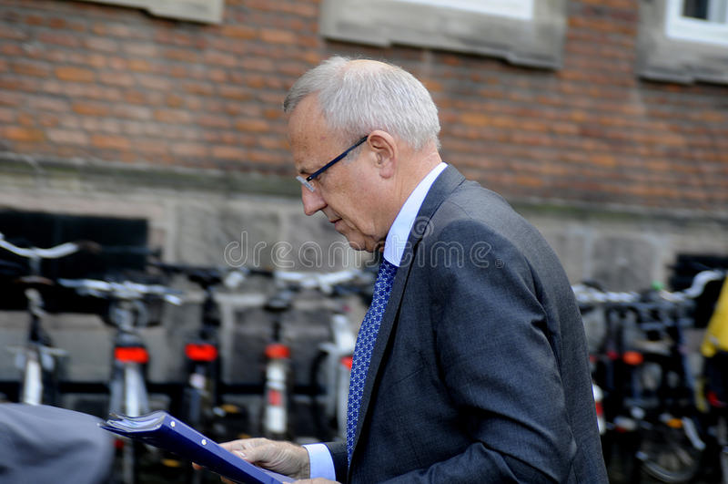 JORN NEERGAARD LARSEN_MINISTER FÖR ANSTÄLLNING royaltyfri foto