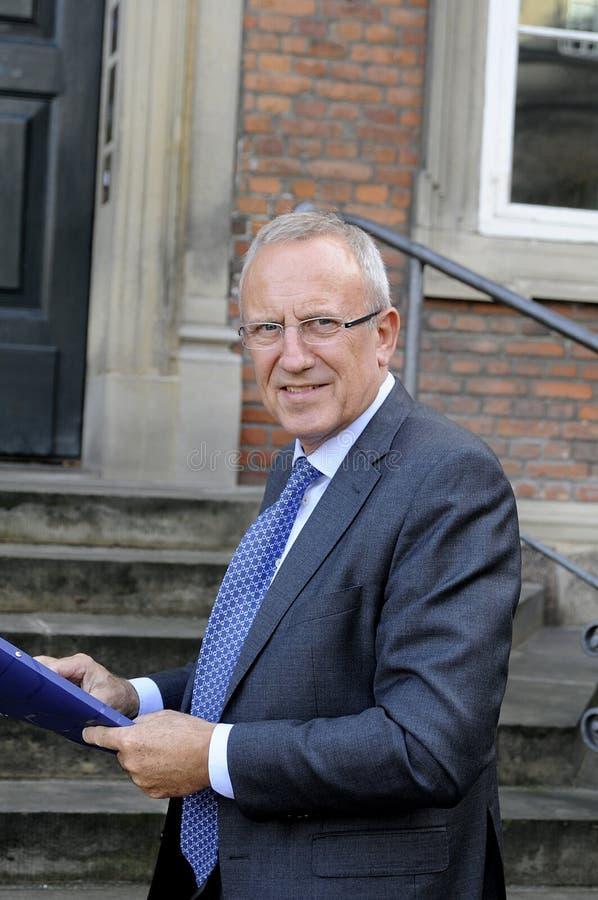JORN NEERGAARD LARSEN_MINISTER FÖR ANSTÄLLNING royaltyfria bilder