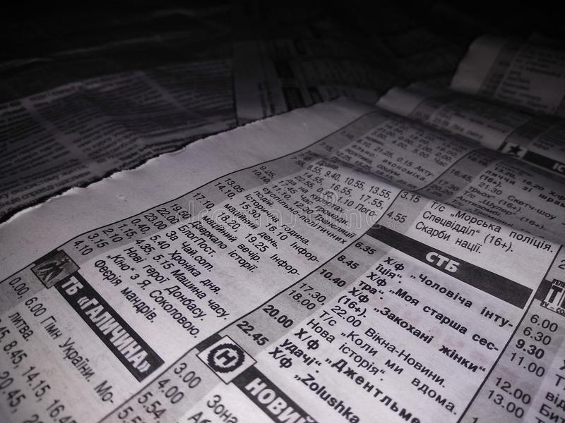 Jornais ucranianos velhos imagens de stock royalty free