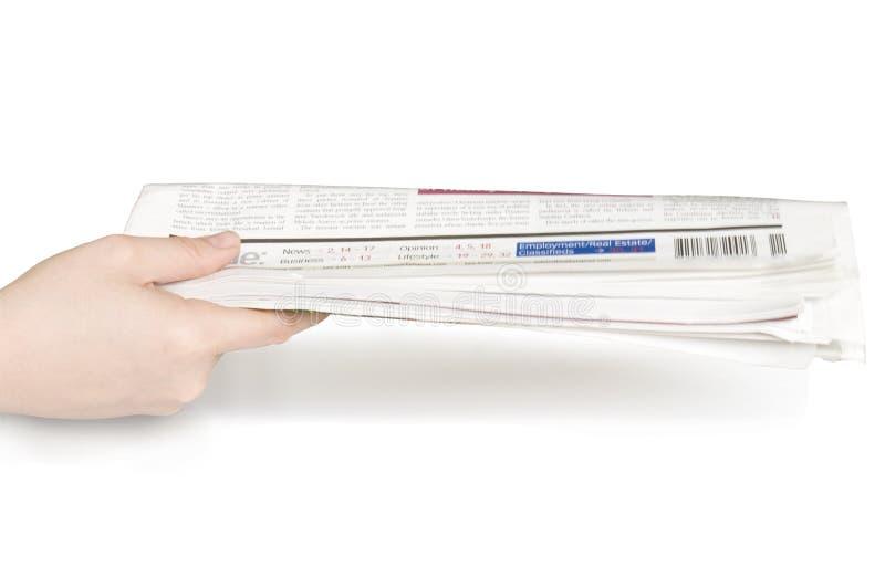 Jornal à disposicão imagens de stock
