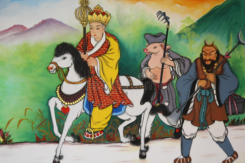 Jornal à pintura ocidental na igreja chinesa imagens de stock royalty free
