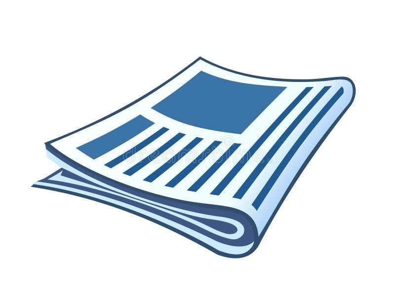 Jornal ilustração stock