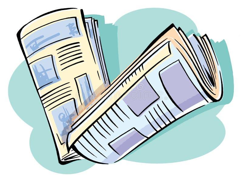 Jornal ilustração royalty free