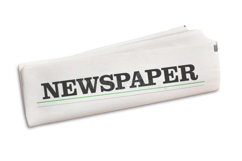 Jornal do jornal isolado no branco foto de stock