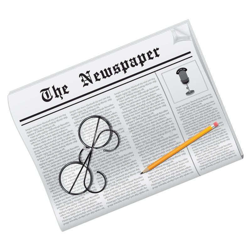 Jornal do vetor ilustração royalty free