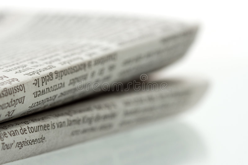 Jornal dobrado 1 fotografia de stock royalty free