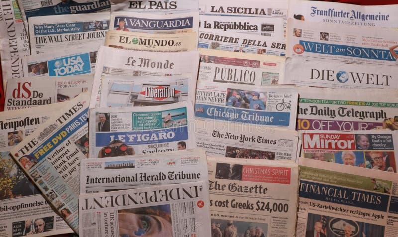 Jornal internacional fotos de stock royalty free
