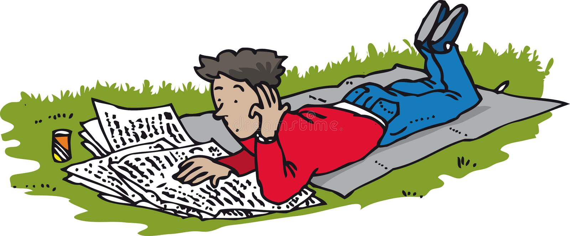 Jornal lido ilustração royalty free
