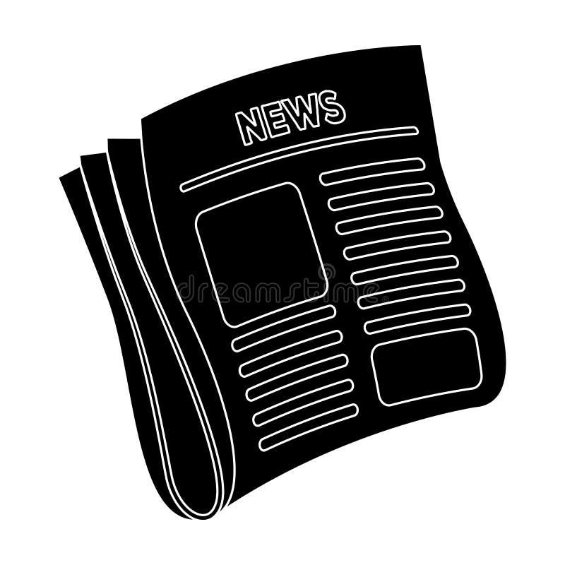 Jornal, notícia Papel, para a tampa de um detetive que esteja investigando o caso Único ícone do detetive no estilo de blake ilustração royalty free
