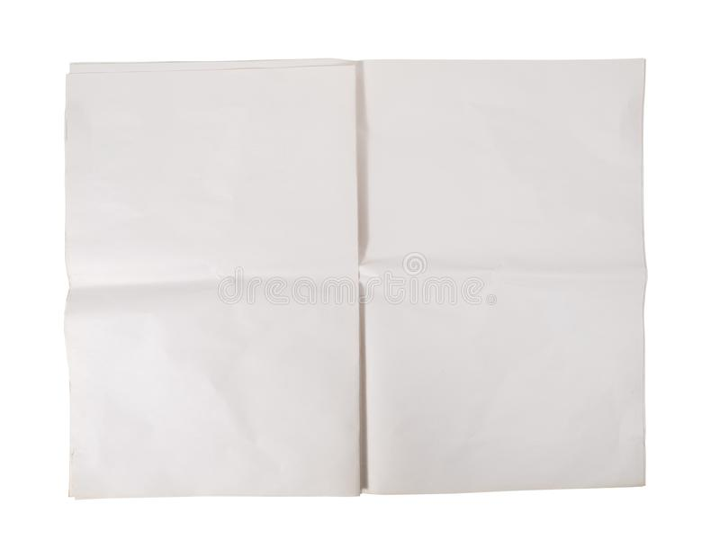 Jornal vazio isolado foto de stock