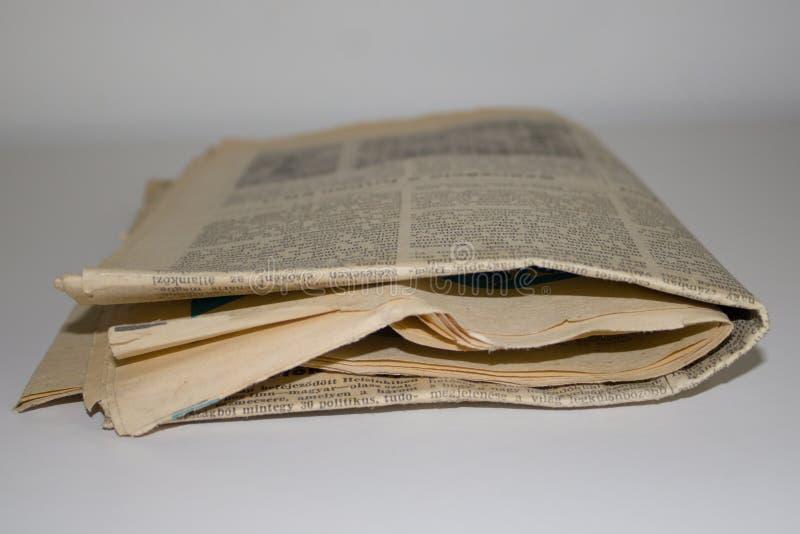 Jornal velho imagens de stock royalty free