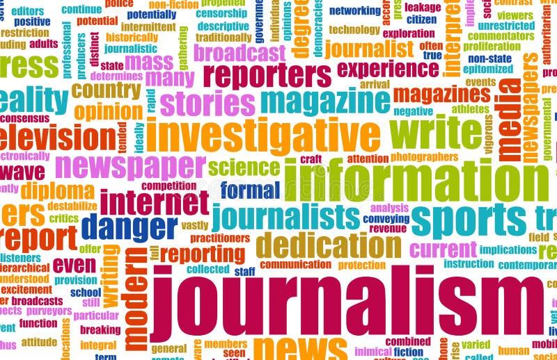Jornalismo ilustração royalty free
