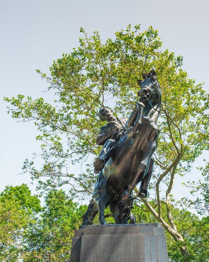 José Martí Monument som lokaliseras i Central Park New York City arkivfoton