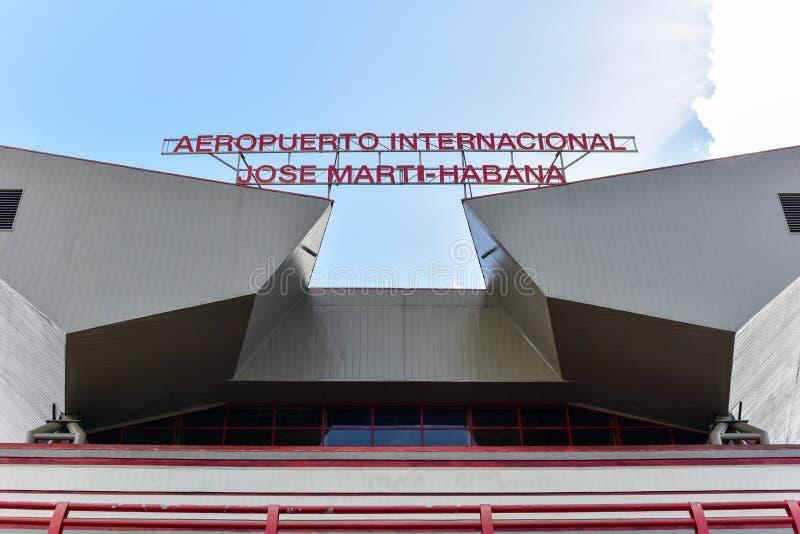 Jos Marti Airport - Avana, Cuba immagini stock libere da diritti