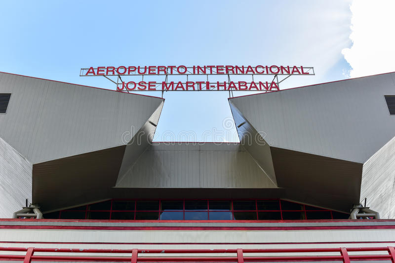 Jos Marti Airport - La Havane, Cuba images libres de droits