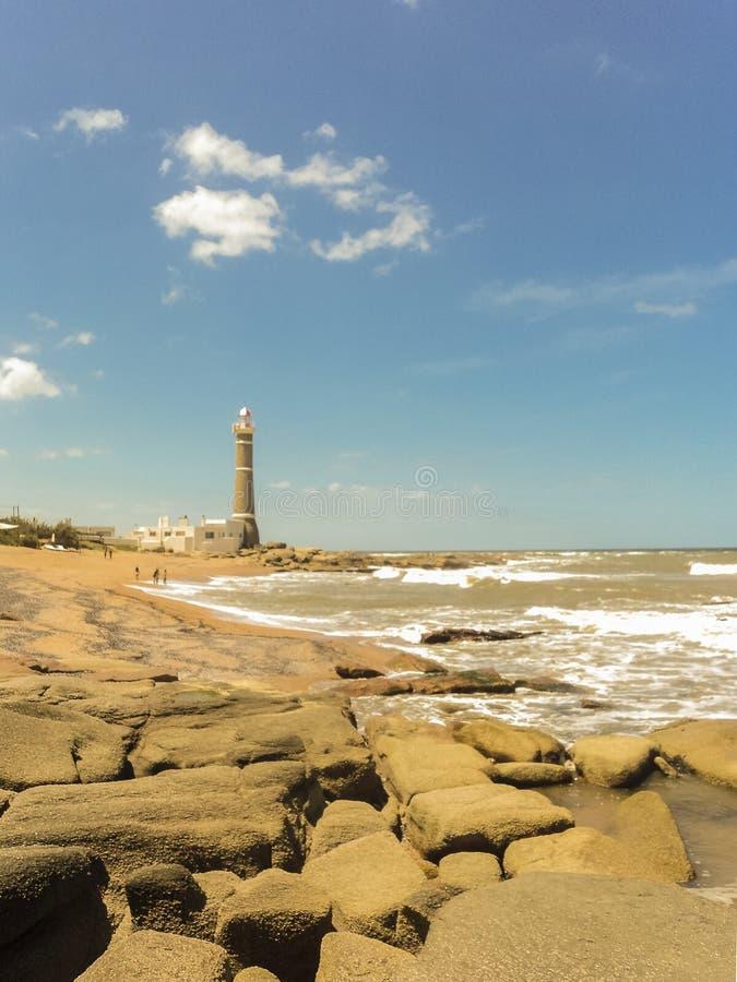 Jose Ηγνάτιος Lighthouse και η παραλία στοκ φωτογραφίες με δικαίωμα ελεύθερης χρήσης