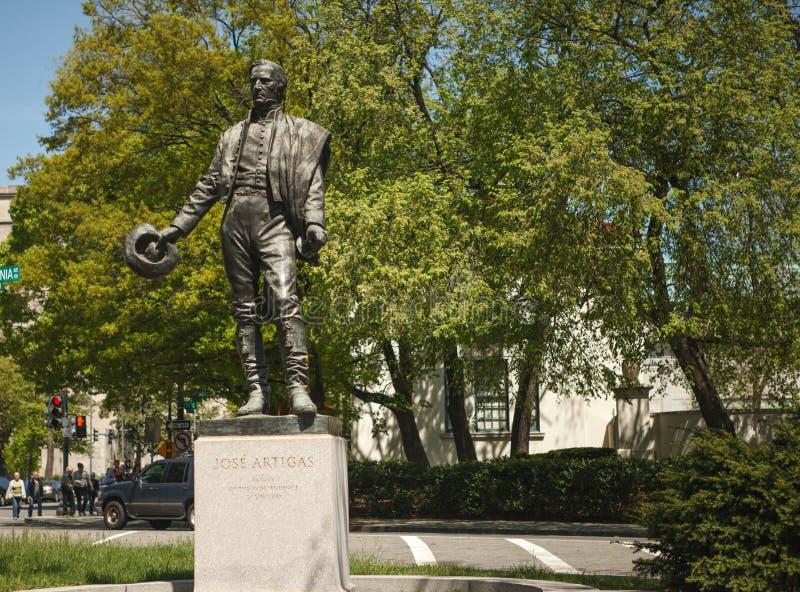 Jose Artigas - Gaucho-Statuen-Washington DC lizenzfreie stockbilder