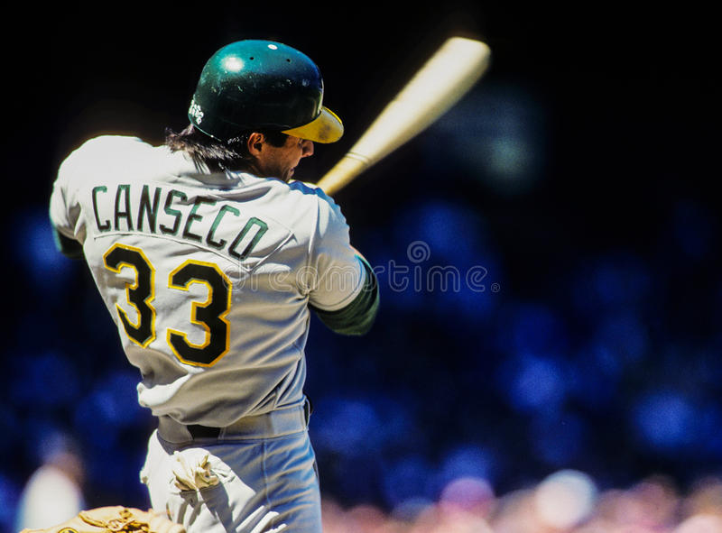 Jose Canseco Oakland A images stock