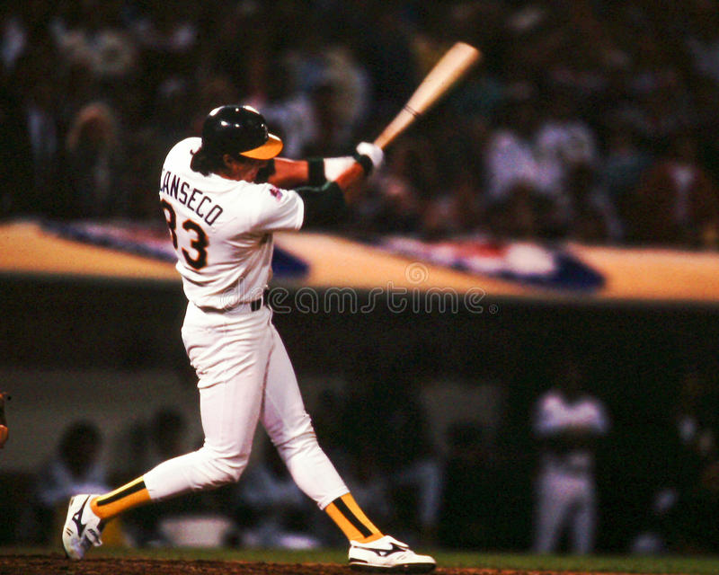 Jose Canseco, Oakland A images stock