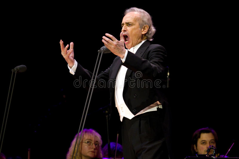Jose Carreras in Zagreb stockfotografie