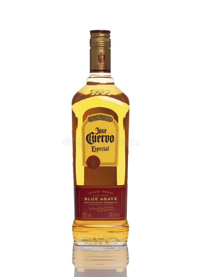 Jose Cuervo Especial, blaues Agave Tequila-Gold stockbild