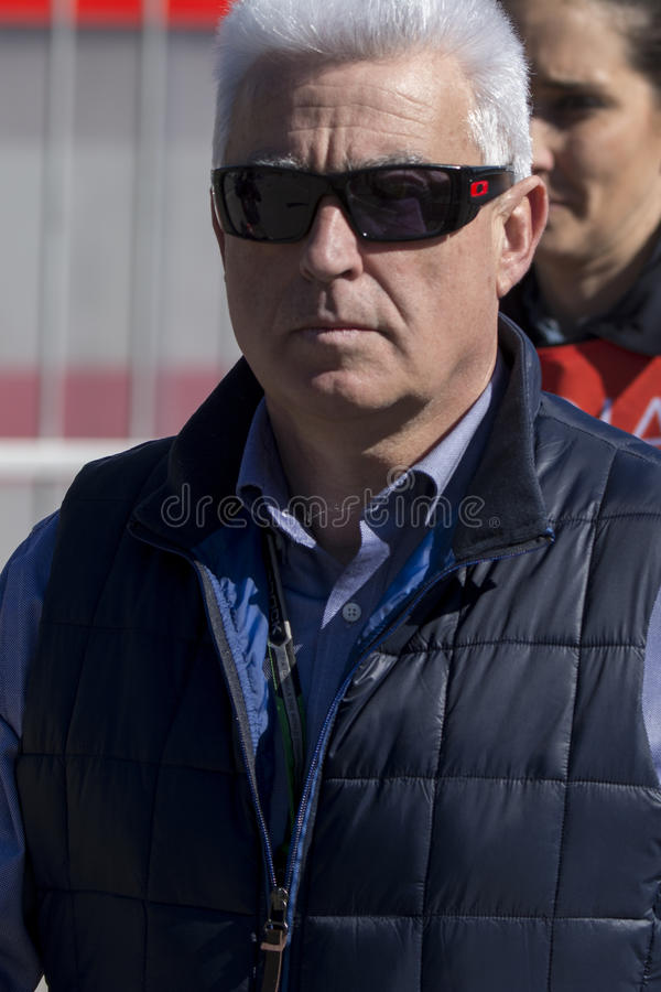 Jose Luis Alonso Father av Fernando Alonso royaltyfri fotografi