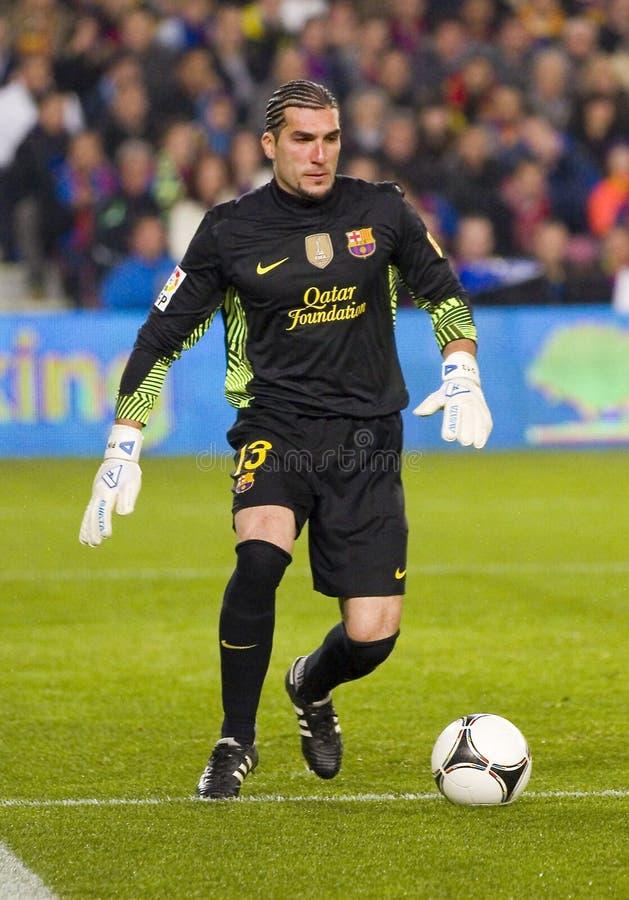 Jose Manuel Pinto av FCet Barcelona arkivfoton