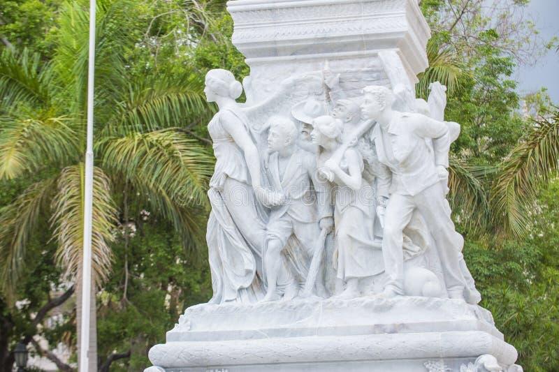 jose marti纪念碑 库存图片