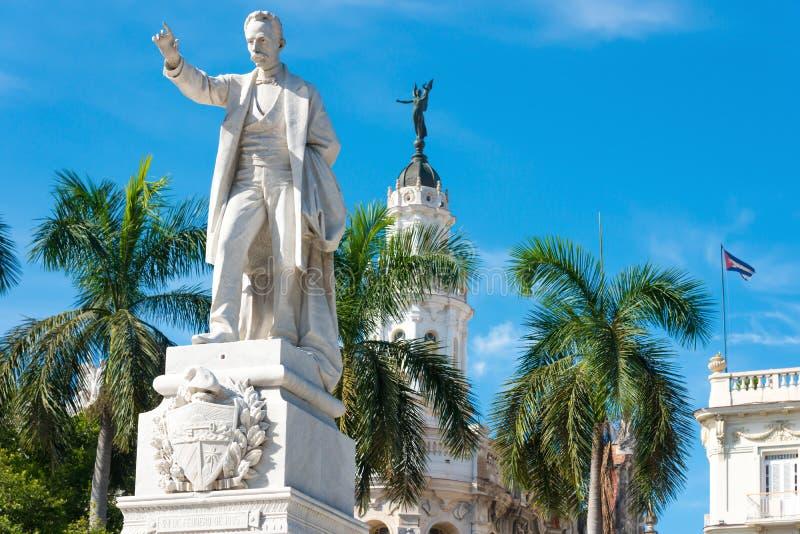 Jose Marti Monument bij Central Park in Havana stock afbeelding