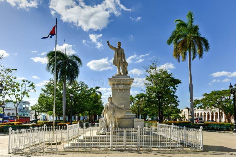Jose Marti park - Cienfuegos, Kuba zdjęcie stock